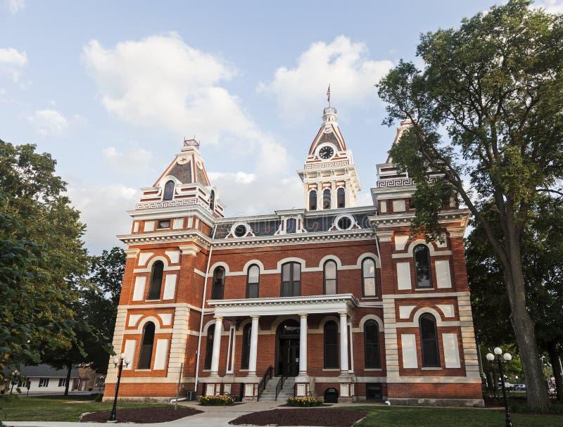 Livingston okręg administracyjny - stary gmach sądu w Pontiac fotografia royalty free