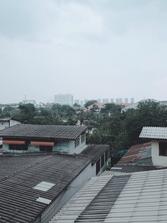 Livlig blå himmel fotografering för bildbyråer