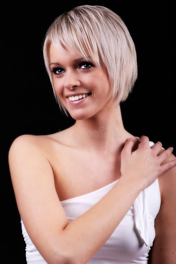 Livlig elegant ung kvinna arkivfoton
