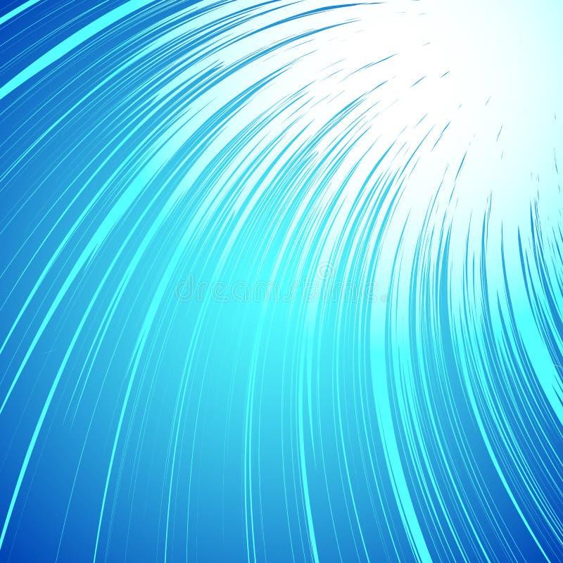 Livlig färgrik bakgrund med spiralt motiv Abstrakt spiral, Co royaltyfri illustrationer
