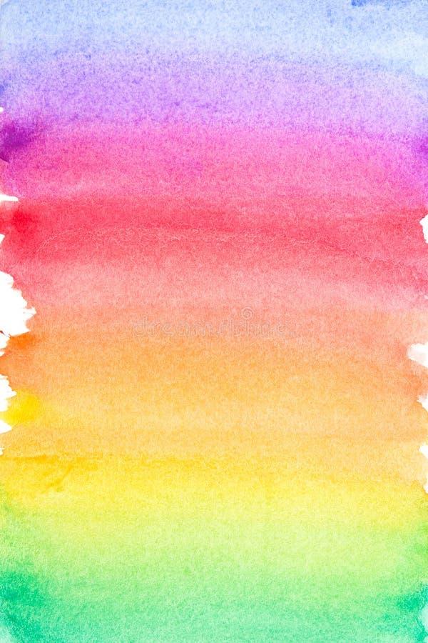 Livlig vattenfärgbakgrund för regnbåge arkivbild
