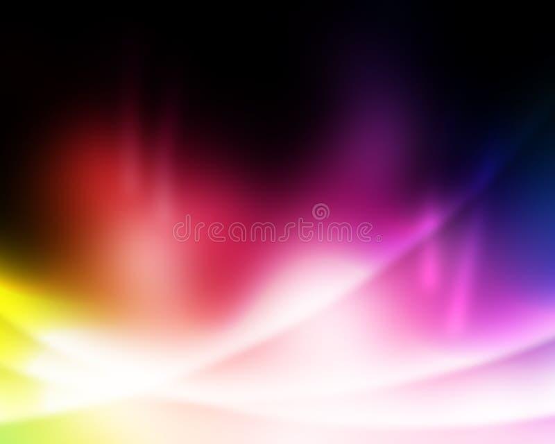 livliga abstrakt härliga ljusa färgrika lampor royaltyfri illustrationer