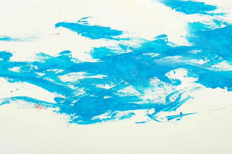 Livliga slaglängder för målarfärg för blåttfärgabstrakt begrepp som en abstrakt backgroun arkivfoto