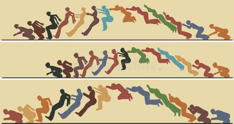 livligt hopp stock illustrationer