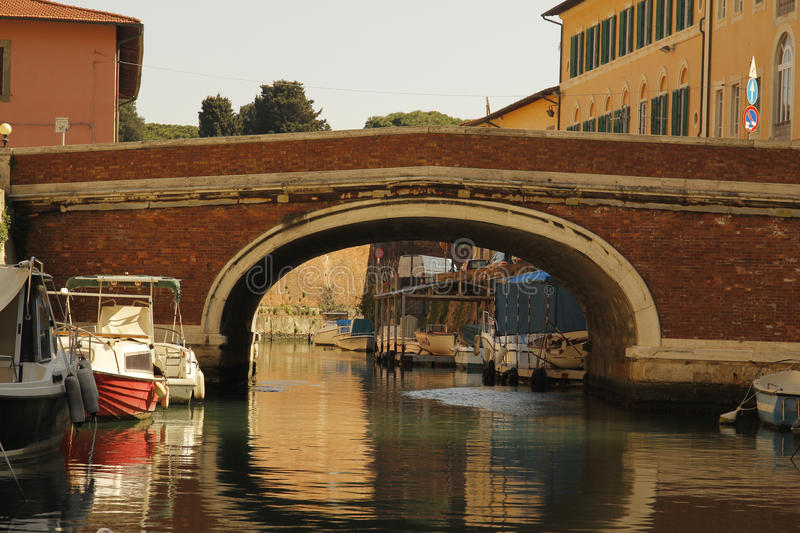 Livorno on Boat royalty free stock images