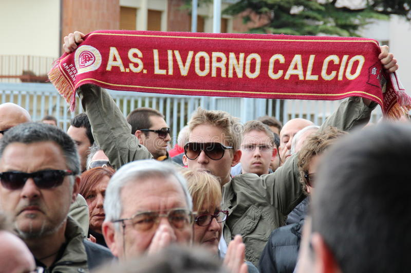 Livorno football commemoration Morosini royalty free stock image
