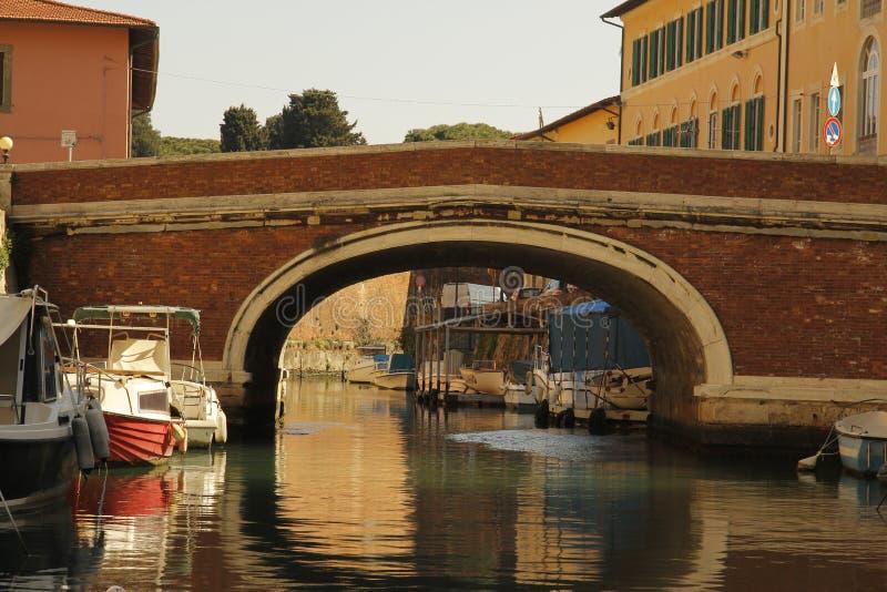 Livorno na łodzi obrazy royalty free