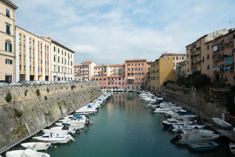 Livorno town, Italy royalty free stock image