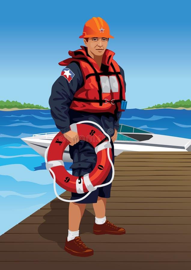 livräddare stock illustrationer