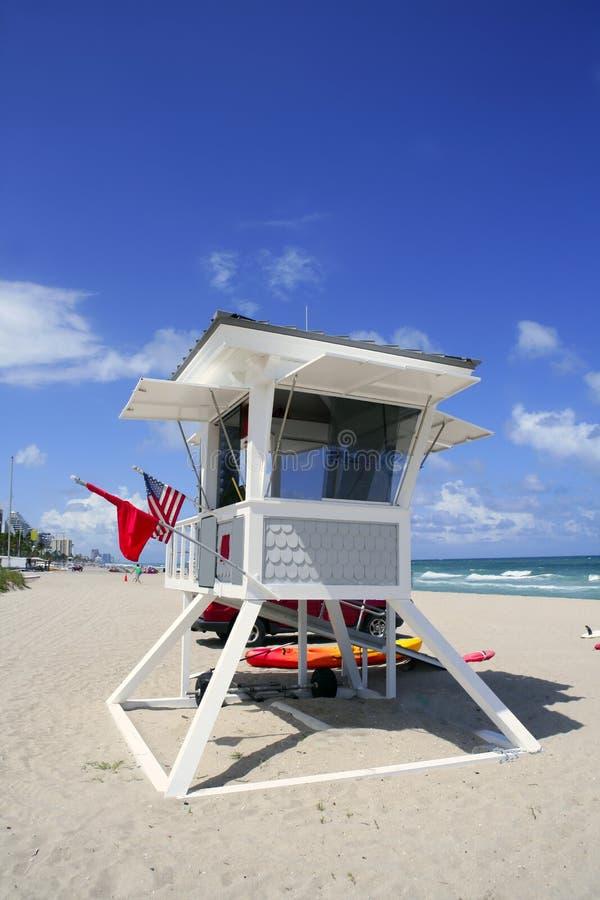 livräddare för lauderdale för hus för strandflorida fort royaltyfri bild