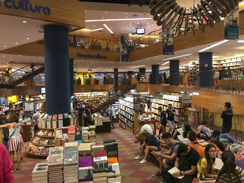 Livraria Cultura, traditionele boekhandel in de stad van Sao Paulo royalty-vrije stock foto