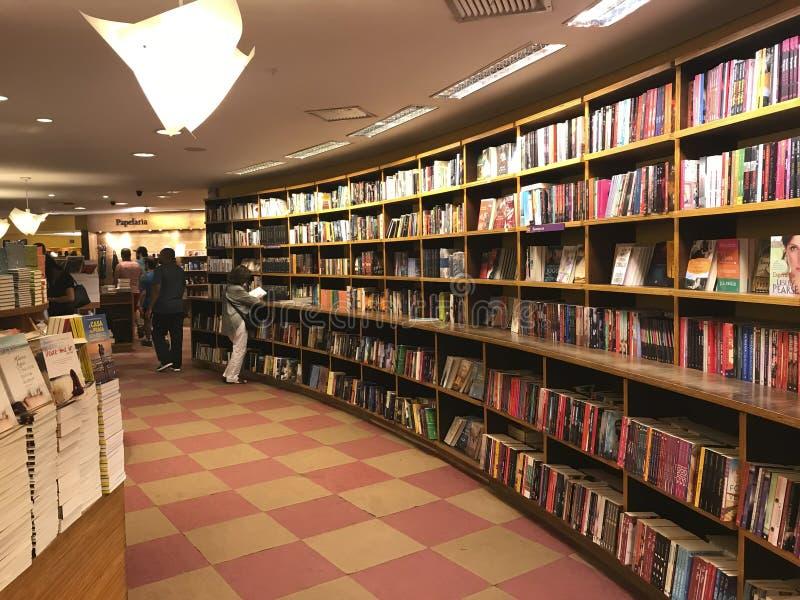 Livraria Cultura, traditionele boekhandel in de stad van Sao Paulo royalty-vrije stock foto's
