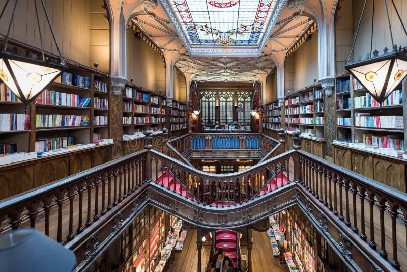Livraria Lello, la libreria famosa a Oporto, Portogallo fotografia stock