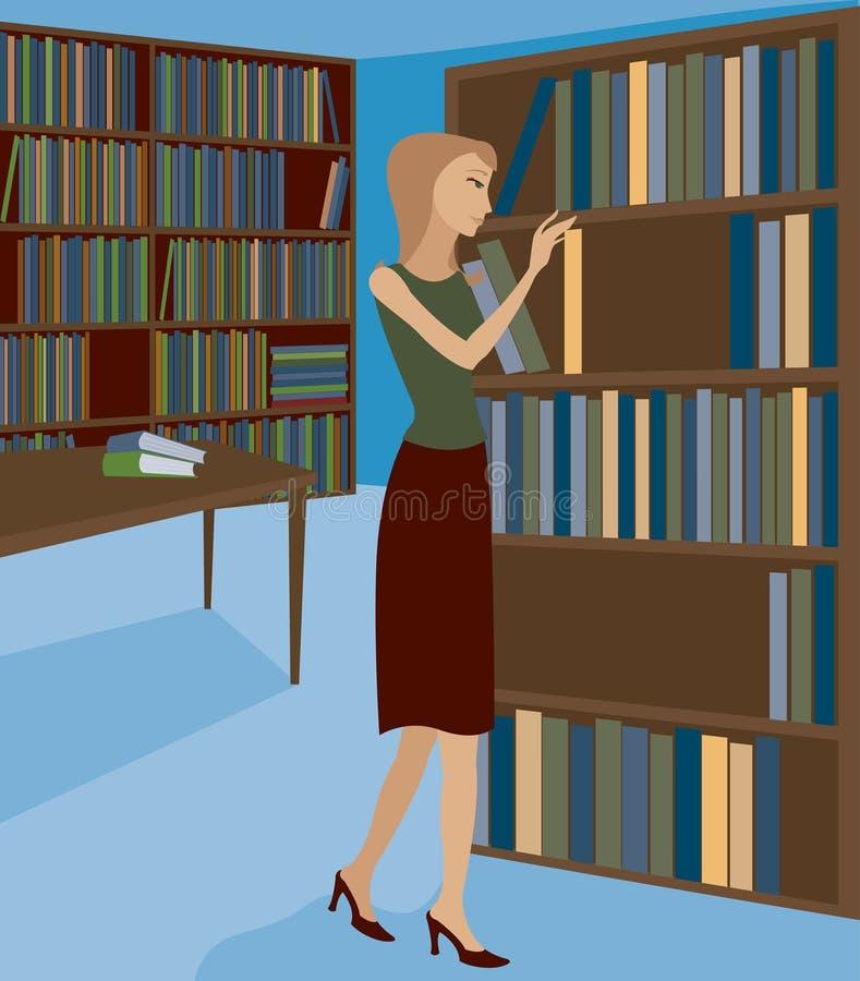 Livraria ou biblioteca 1 ilustração royalty free
