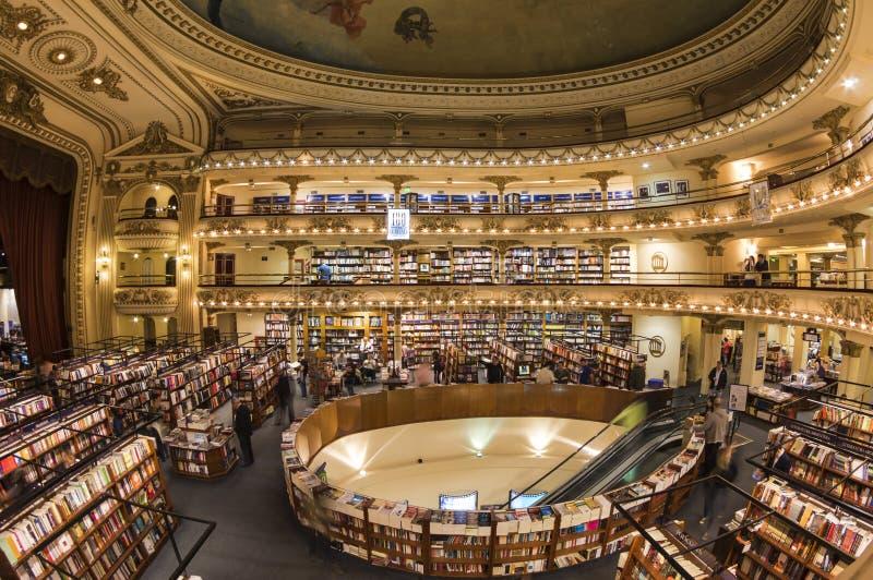 Livrarias icónicas 'EL Ateneo', Buenos Aires, Argentina imagem de stock royalty free