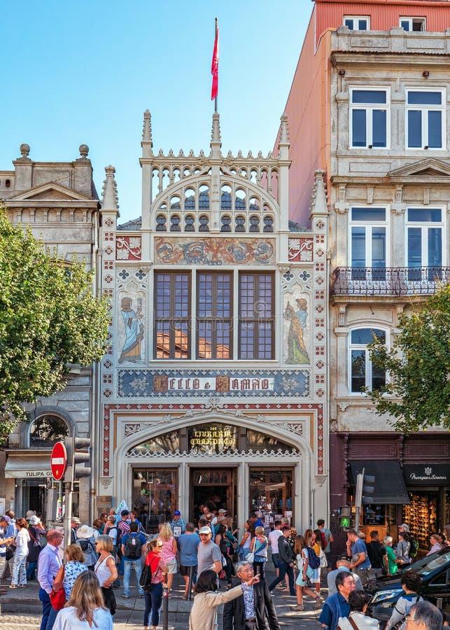 Livrarina Lello Bookstore, Oporto, Portogallo fotografia stock