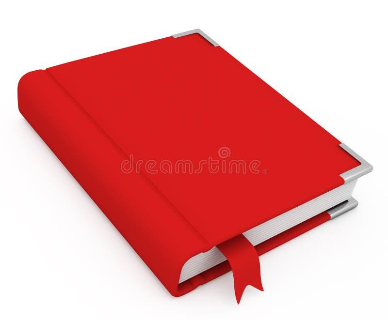 livre 3d avec un cache blanc illustration libre de droits