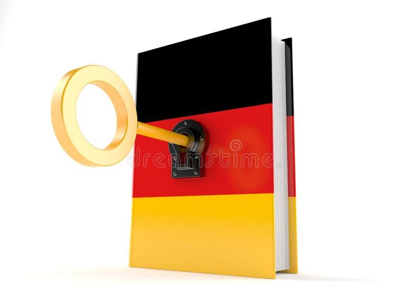 Livre allemand avec la clé illustration libre de droits