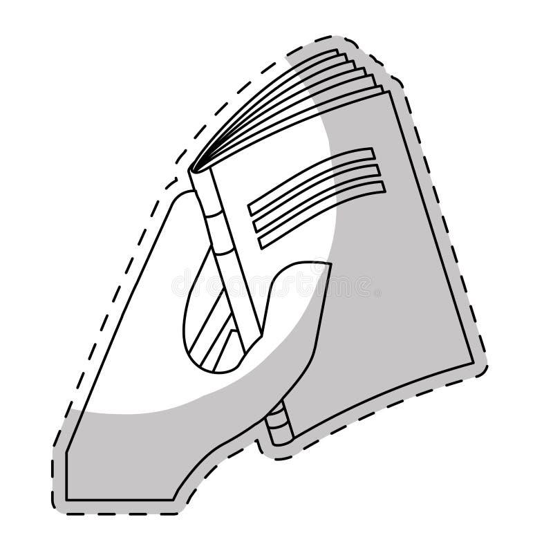 Livre blanc étroit dans l'image de main illustration stock