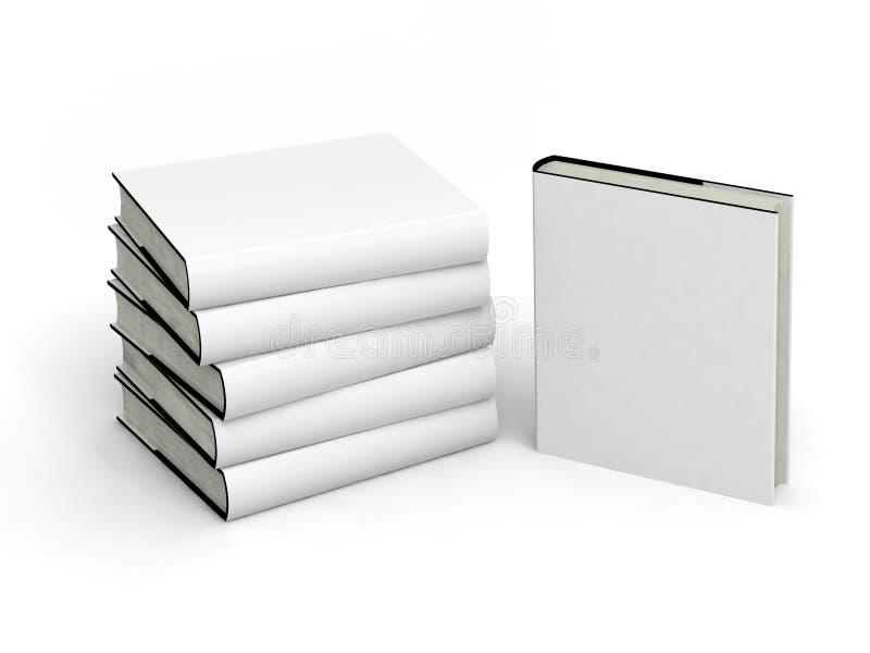 Livre blanc avec le cache blanc illustration libre de droits