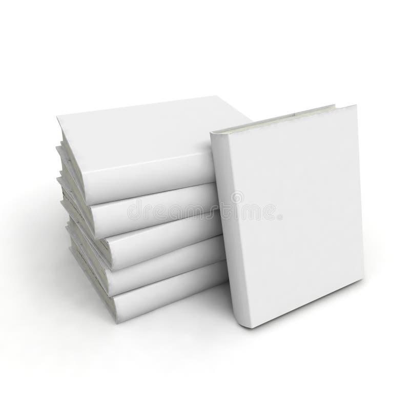 Livre blanc avec le cache blanc photographie stock libre de droits