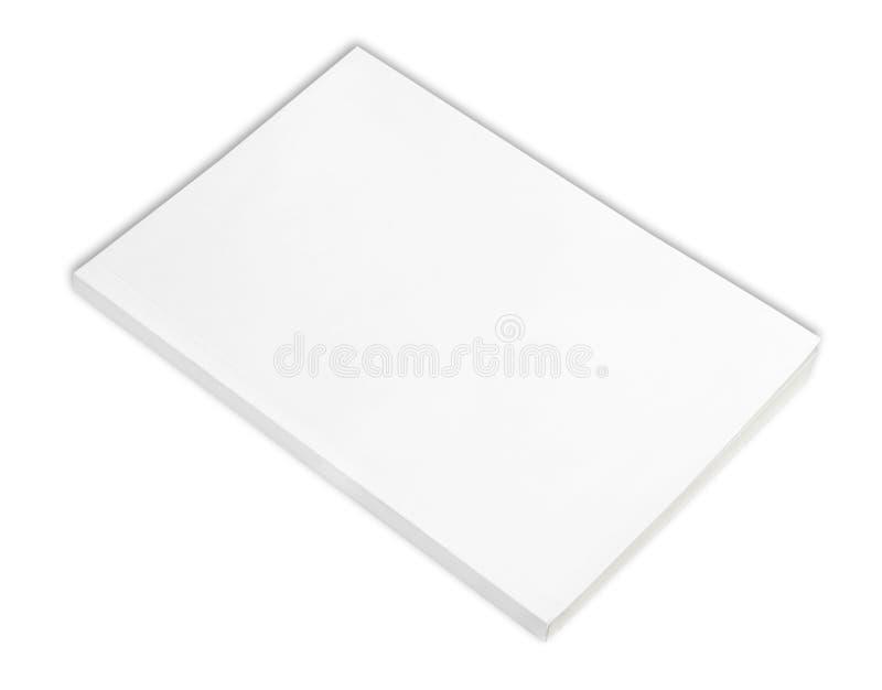 Livre blanc avec le cache blanc photos libres de droits