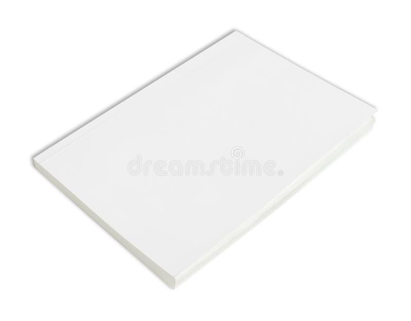 Livre blanc avec le cache blanc images stock