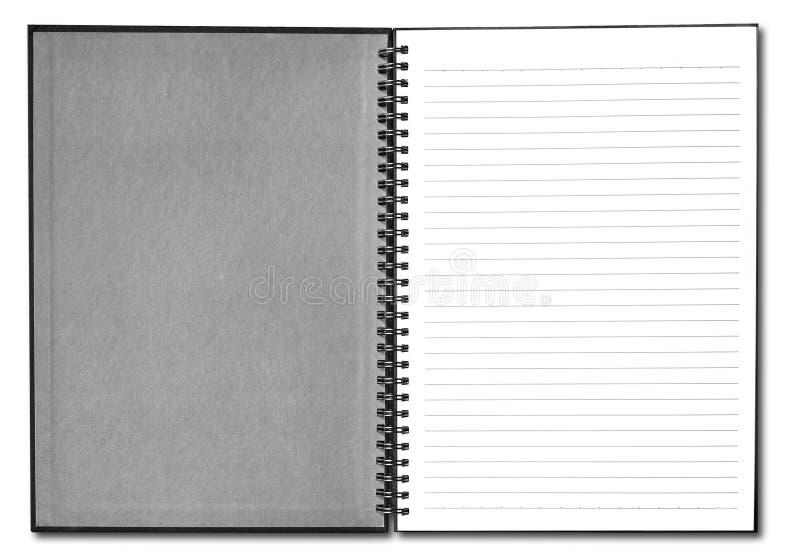 Livre blanc avec le cache noir photos stock