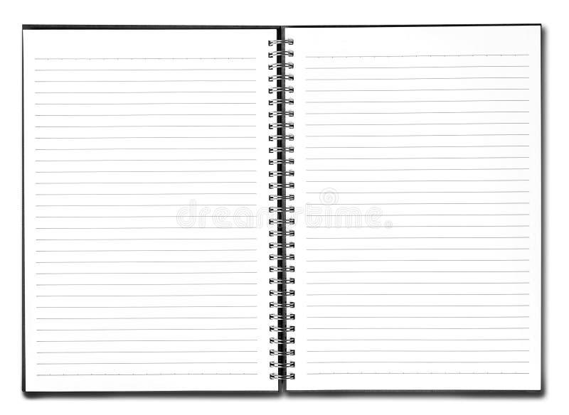 Livre blanc avec le cache noir photographie stock