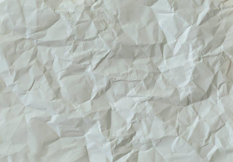 Livre blanc chiffonné d'A4 photos libres de droits