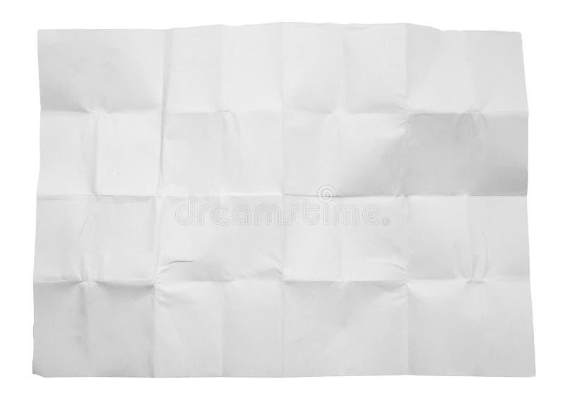Livre blanc chiffonné sur le fond blanc images stock