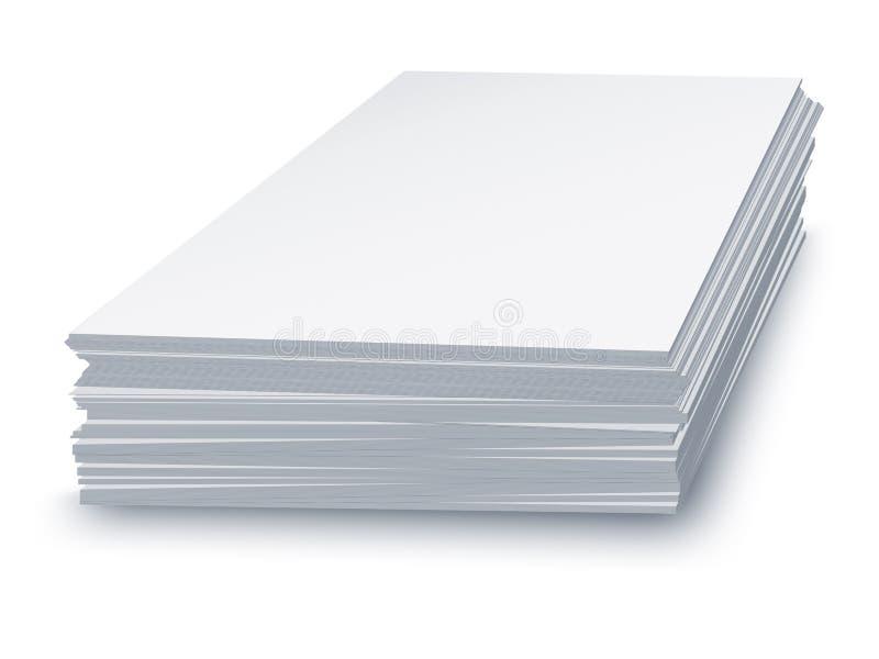 Livre blanc empilé illustration libre de droits