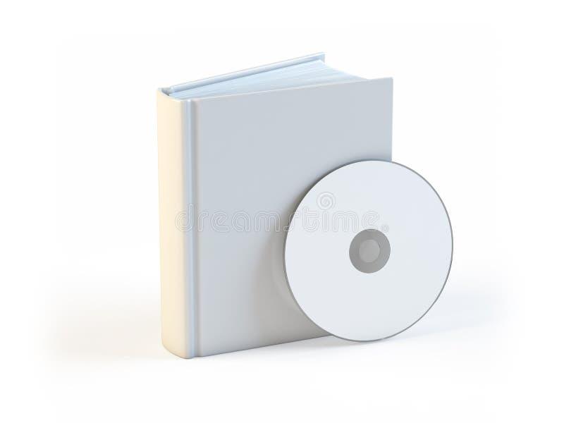 Livre blanc et Cd illustration libre de droits
