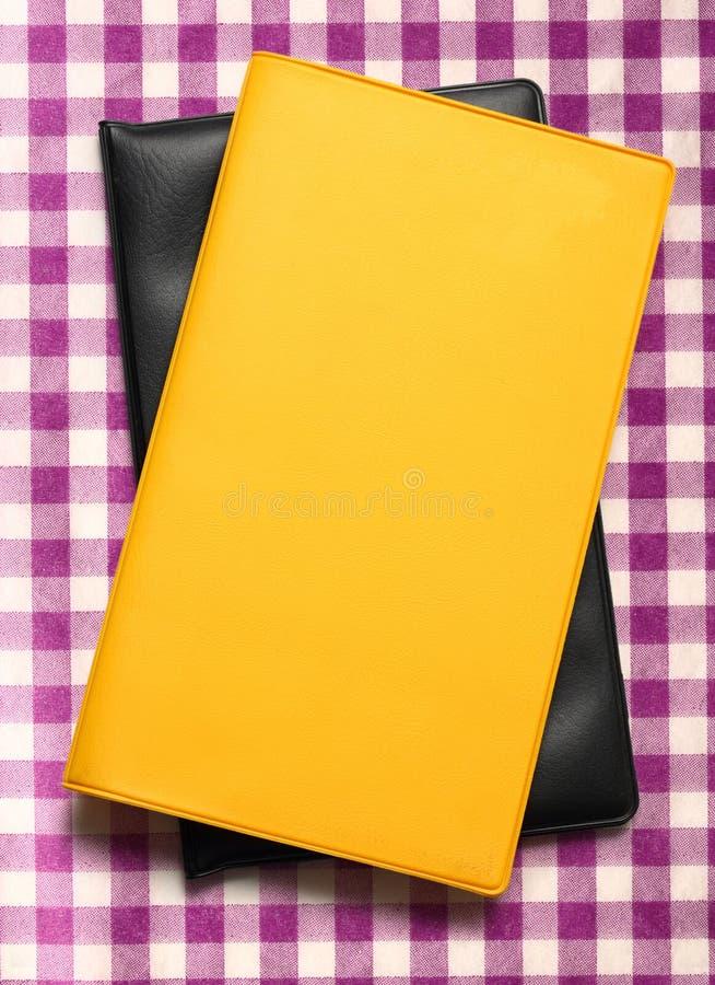 Livre blanc jaune image libre de droits