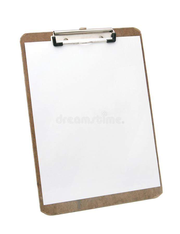 Livre blanc sur la planchette photos stock