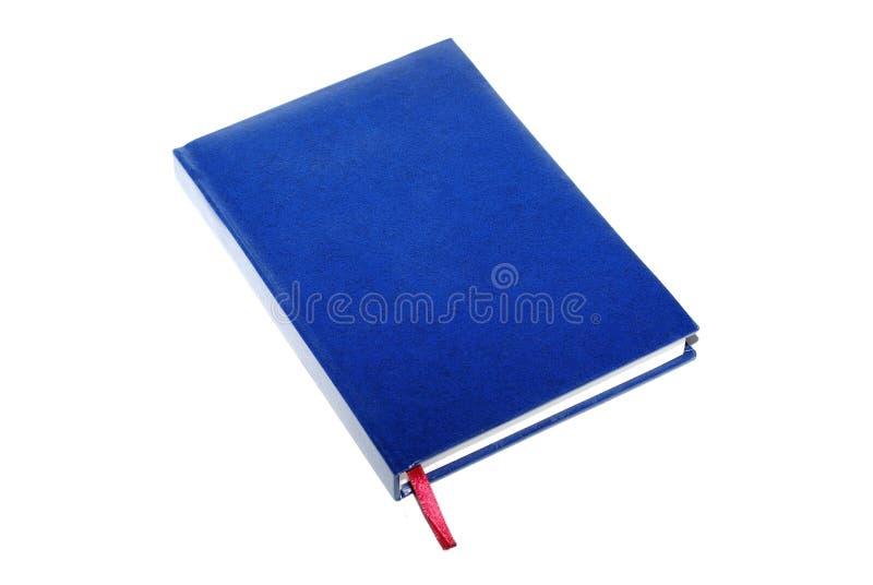 livre bleu d'isolement images stock