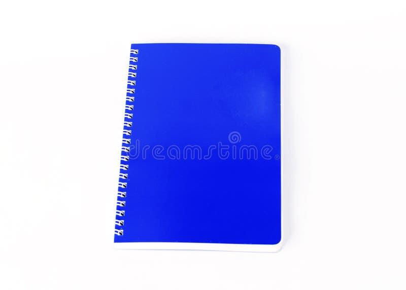 Livre bleu de journal intime sur le fond blanc image libre de droits