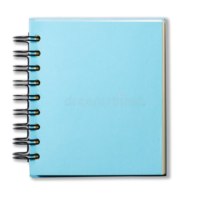 Livre bleu de note de couverture photos stock