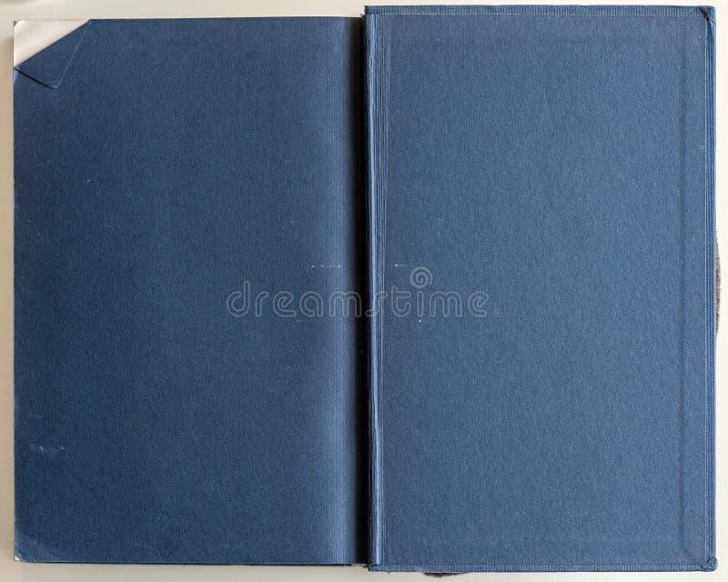 Livre Bleu Vide Ouvert A La Premiere Page Photo Stock