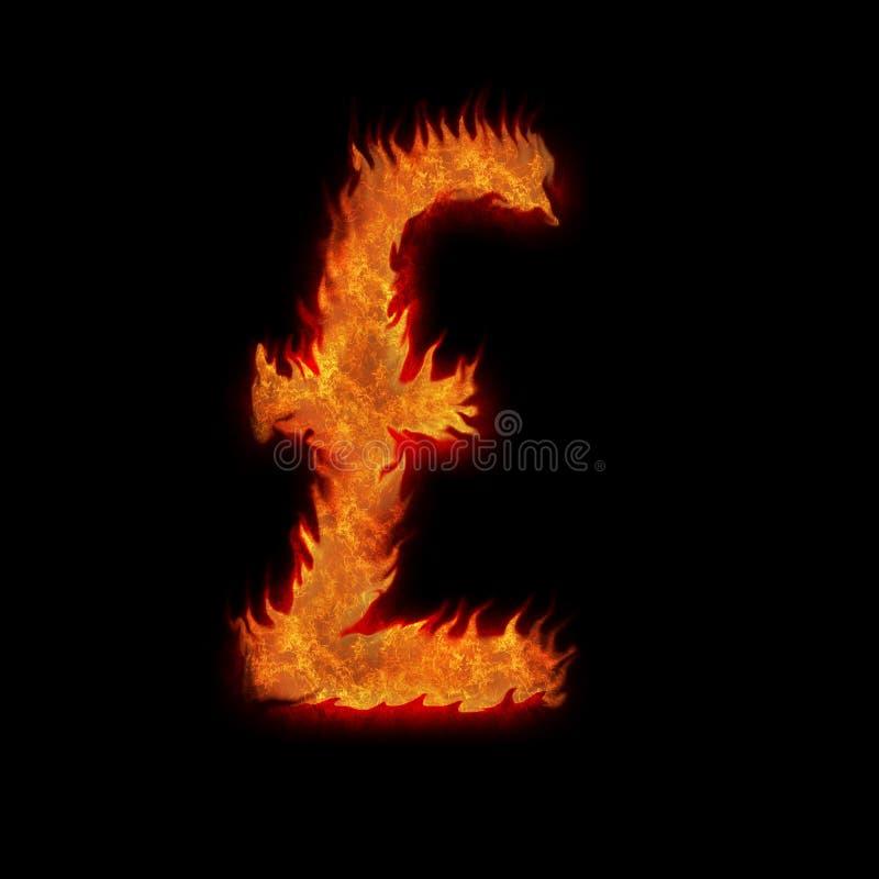 Livre brûlante de la Grande-Bretagne gigaoctet illustration de vecteur