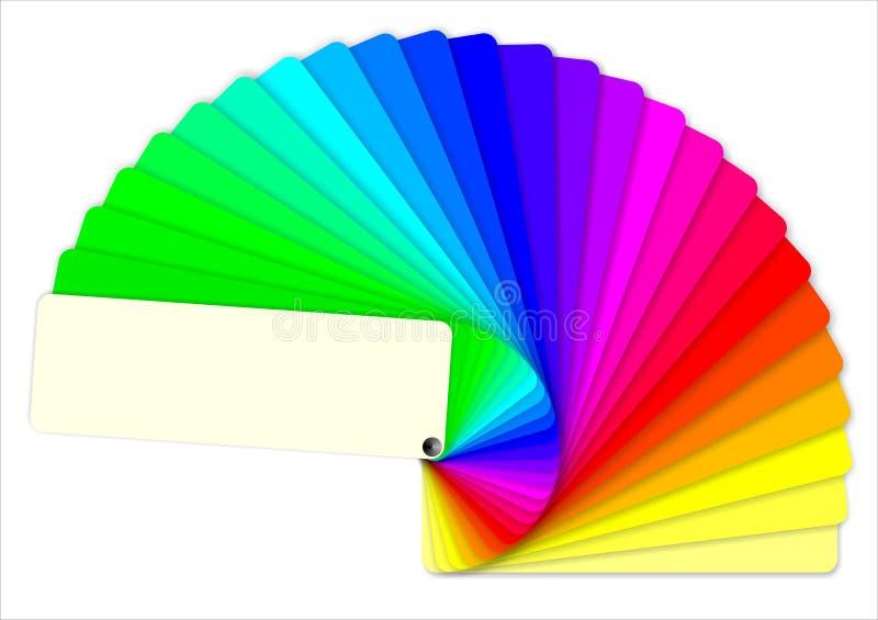 Livre coloré d'échantillons images libres de droits