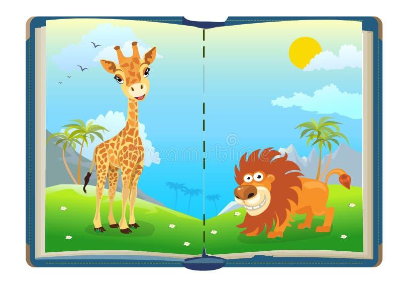 Livre concernant des animaux de jungle photos libres de droits