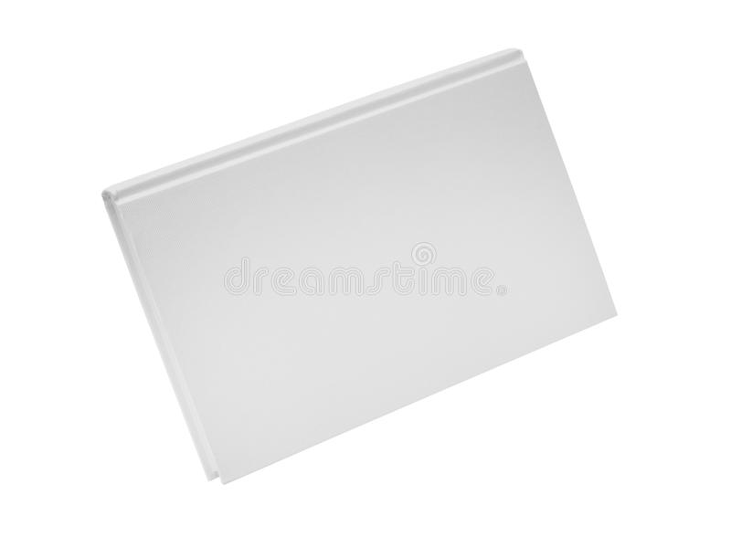 Livre couvert blanc de casebound arrière dur image stock