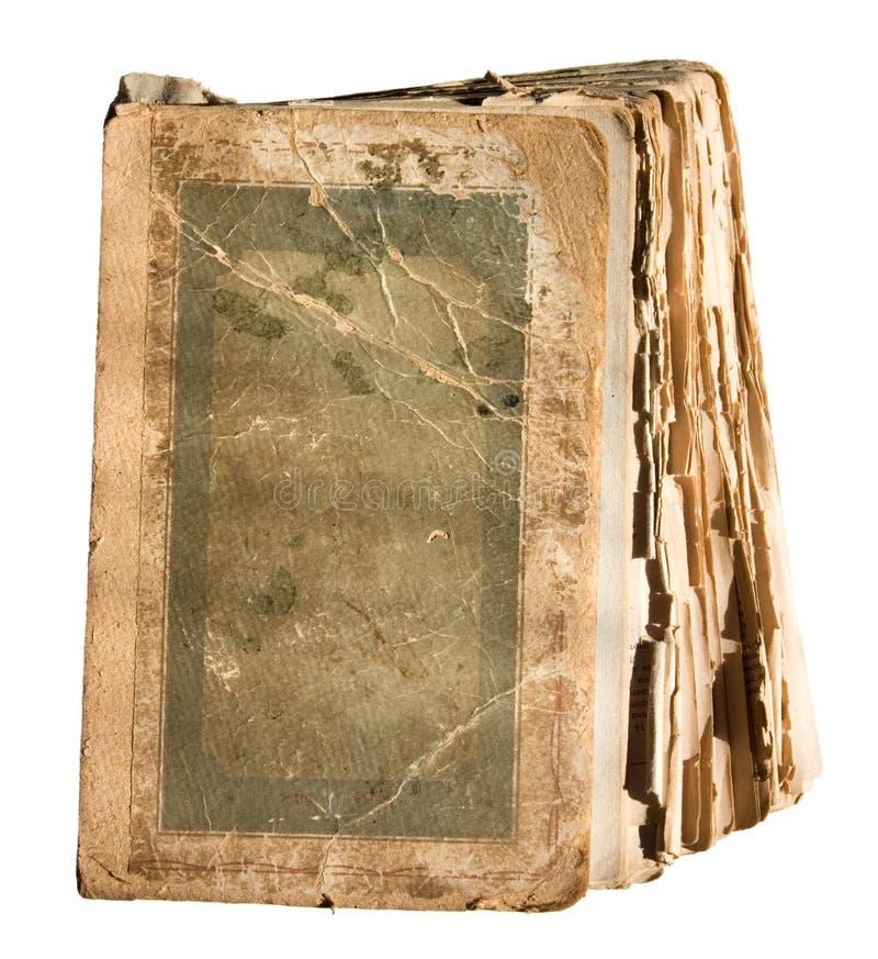 Livre déchiré en lambeaux très vieux image libre de droits