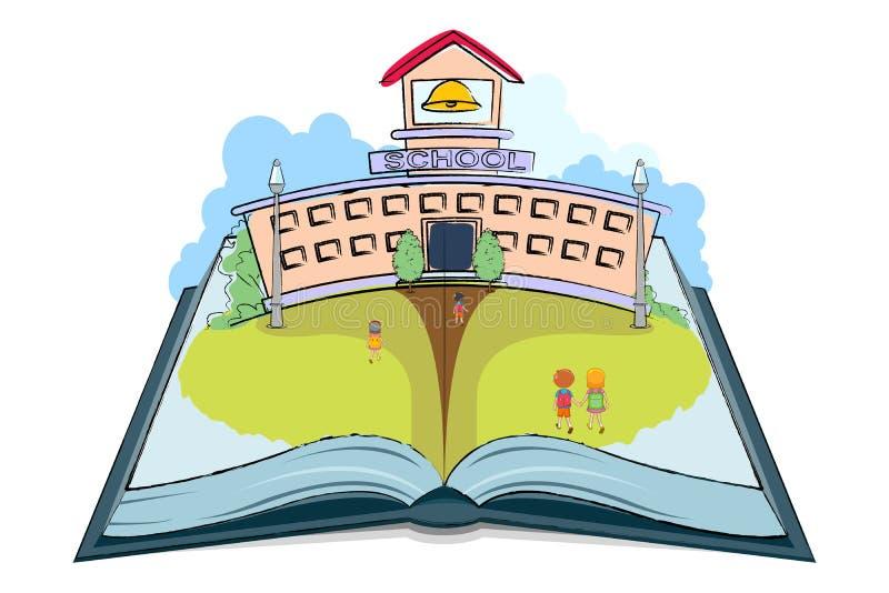 Livre d'école illustration de vecteur