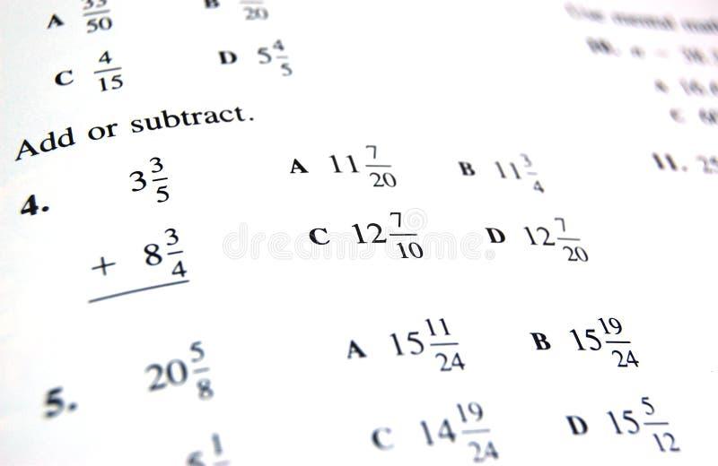 Livre d'école de maths images libres de droits