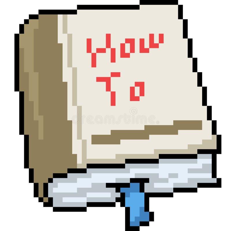 Livre d'art de pixel de vecteur comment à illustration stock
