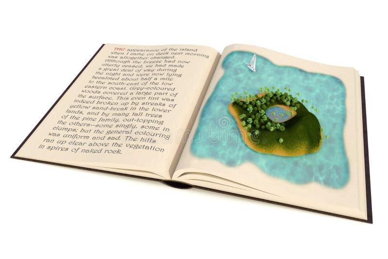 Livre d'aventure illustration stock