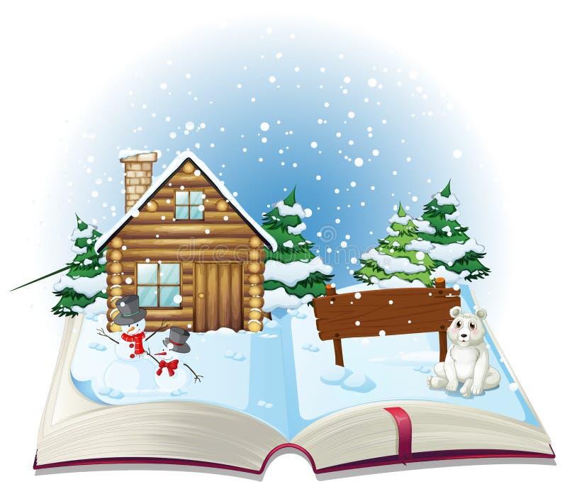 Livre d'hiver illustration stock