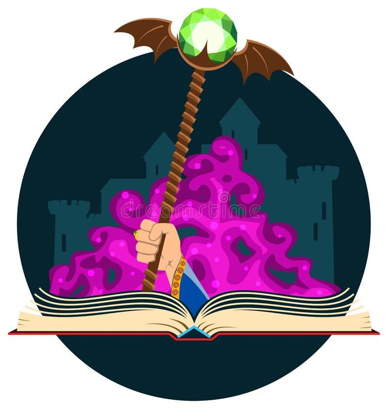 Download Livre D'imagination Avec Le Personnel Magique Illustration de Vecteur - Illustration du littérature, livre: 56490802